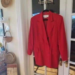 🆕️ Escada Blazer in Red - Vintage Elegance
